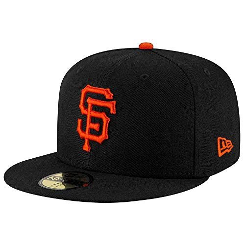 - New Era 59FIFTY San Francisco Giants Black MLB 2017 Authentic Collection On Field Game Fitted Cap Size 7 5/8