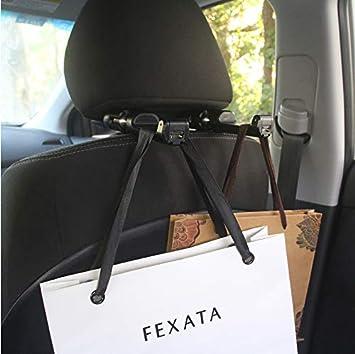 Black -Set of 2 IPELY Universal Car Vehicle Back Seat Headrest Hanger Holder Hook for Bag Purse Cloth Grocery .