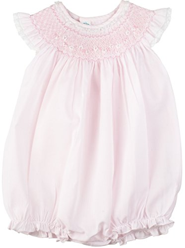 Feltman Brothers Baby Girls Pink Smocked Bubble 24 Months (24 Months)