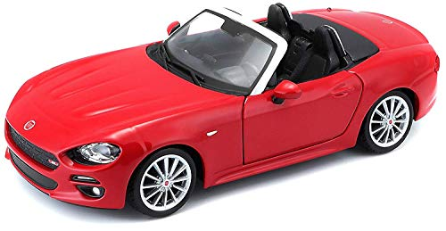 - Fiat 124 Spider Coupe Red 1/24 Diecast Model Car by Bburago 21083