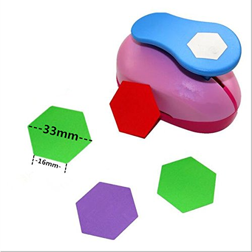 CADY Crafts Punch 1.5-Inch paper punch Craft Punches (Hexagon Punch)