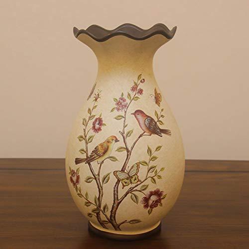 Mountain head ヨーロッパのレトロな装飾的な花瓶アメリカの牧歌的なカントリークラフト家具塗装セラミック花瓶花セット Mountain head (Size : A) B07QH4VGC5  A