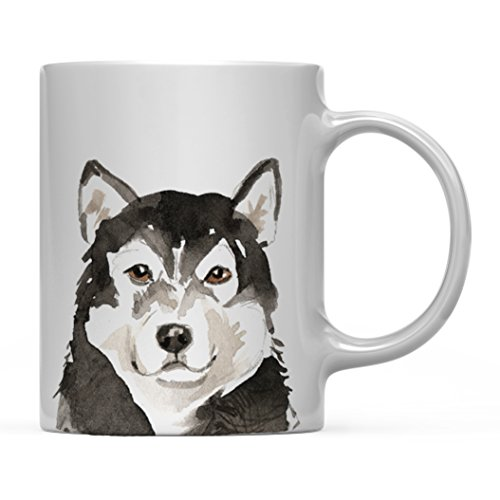 Andaz Press 11oz. Dog Coffee Mug Gift, Malamute Up Close, 1-Pack, Pet Animal Lover Birthday Christmas Gift for Her Family