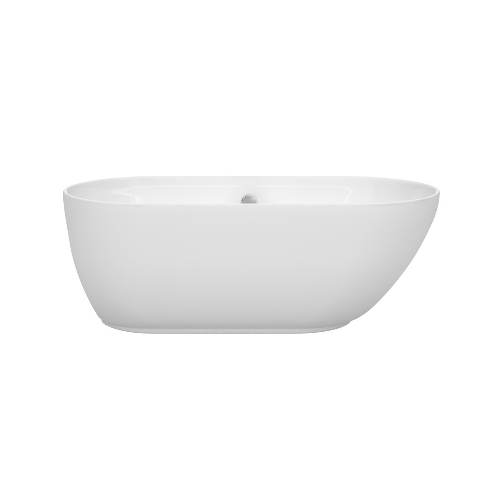 60 inch freestanding soaking tub. Wyndham Collection Melissa 60 Inch Freestanding Bathtub For Bathroom In  White With Brushed Nickel Drain And Overflow Trim Amazon Com
