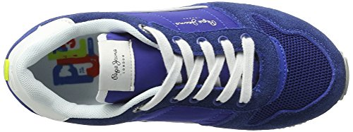 Pepe Jeans London Sydney Color, Zapatillas Para Niños Azul (Electric BLU)