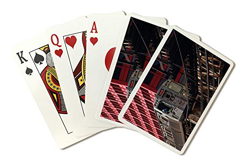 Elevated Train (Chicago Loop Railway Elevated Train Photography A-90326 (Playing Card Deck - 52 Card Poker Size with Jokers))