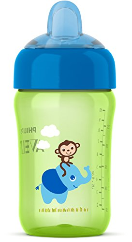 Philips Avent My Sip-n-Click Cup, Green/Blue, 12 Ounce