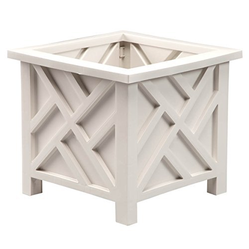 Chippendale Planter-White, One Size Fits ()