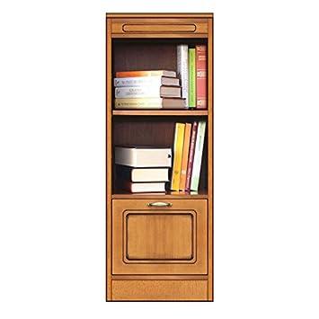 Amazon.de: Bücherregal 2 Fächer 1 Tür mit höhenverstellbaren ...