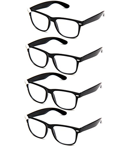 Newbee Fashion IG Women Cute Fancy Bow Clear Lens Glasses Thick Frame Nerd - Geek With Glasses Bow
