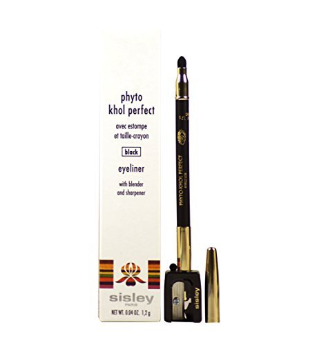 Sisley Perfect Eyeliner with Blender and Sharpener, Black, Phyto Khol, 0.5 Ounce (Pack of 5)