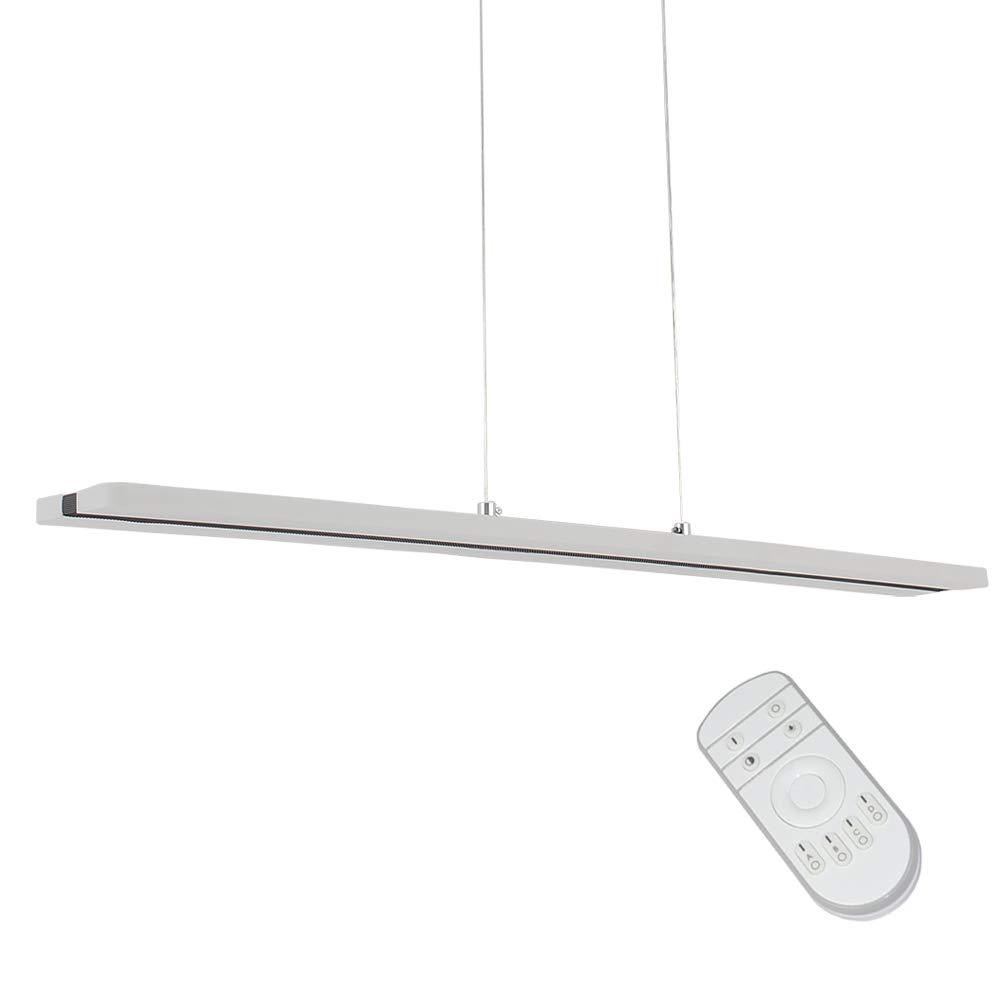 Dimmable Modern Chandelier LED Pendant Light Hanging Light Fixture,LIUSUN LIULU Metal+Acrylic 38W Adjustable LED Chandelier for Living Room,Dining Room,Office,3000-6000K