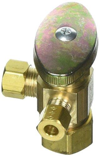 BrassCraft CR1900LX R1 Valve < 0.25 -Percent Lead 3 Way 3/8'' Od. Compression Copper Multi-Turn Rough Brass 5/8'' Od. by BrassCraft