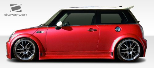 Duraflex ED-VAJ-714 Type Z Wide Body Fender Flares - 6 Piece Body Kit - Compatible For MINI Cooper 2002-2006