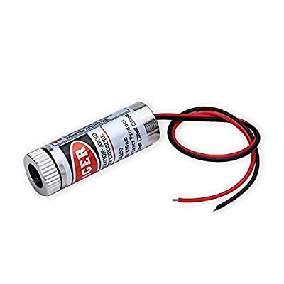 """Focusable 650nm 5mW 3-5V Red Laser """"Line"""" Module Diode w/ driver Plastic Lens (2 Pack)"""