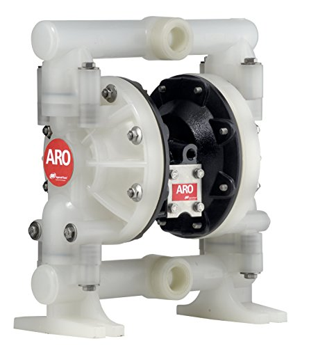 Aro Air Pumps - ARO 6661AJ-344-C Polypropylene PTFE Single Double Diaphragm Pump, 47 gpm, 120 psi