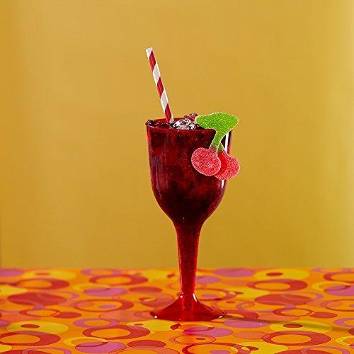 Amscan Reusable Plastic Wine Glasses (18 Pack), 10 oz, Apple Red