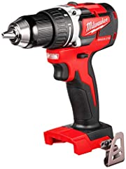"""Milwaukee M18™ 1/2"""" Compact Brushless Drill/Driver Bare Tool, 2701-20. The M18™ 1/2"""" Compact Brushless Drill/Driver is the Most Compact 18V drill on the market and delivers over 50% Longer Run-Time than drills with brushed motors. The Milwauk..."""