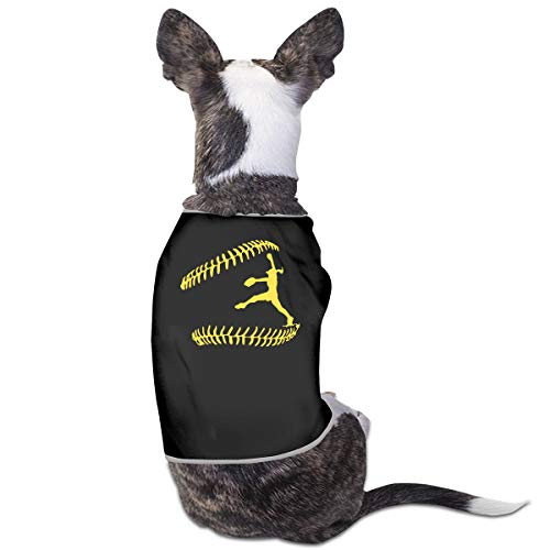 COLLJL8 Softball Pitcher Catcher Pets Clothing Costumes Puppy Dog Clothes Vest Tee T-Shirt