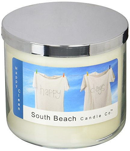Lime Blossom Soy Wax Candle - South Beach Candle Happy Clean Scented Soy Candle, 16-Ounce