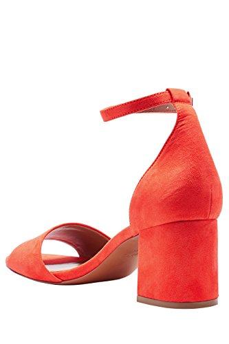 next Mujer Sandalias tacón ancho Corte Regular Rojo
