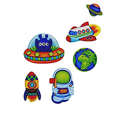 SRDX Mould and Paint Your own Aliens ,DIY Art& Crafts Kit for Kids.Make Your own-Plaster Fridge Magnet & Badges.Great Gifts for ,Birthday,Xmas & Party Favor,Boy& Girl Project. STEM(Space): Toys & Games