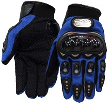 Bruce Dillon Motorcycle Gloves Full Finger Outdoor Sports Riding Motorcycle Gloves Racing Bike Gloves Screen Touch Screen Gloves - Blue X L