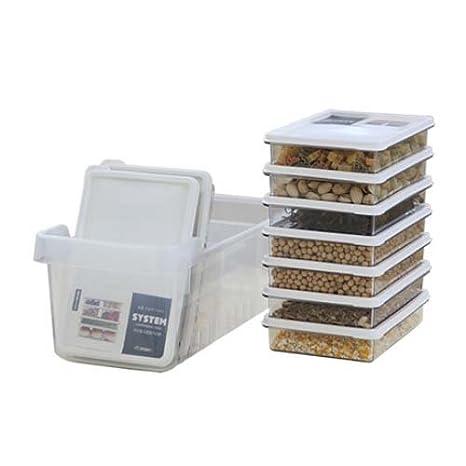 Sentido P (B) nevera organizador de almacenamiento contenedores ...