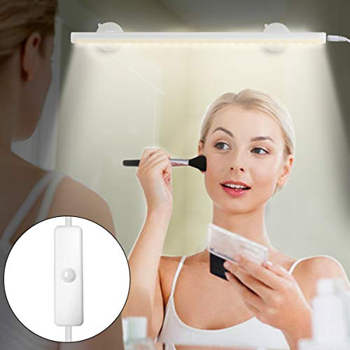 Yuniroom Portable Lights Mirror Makeup Light Bathroom Lighting Kit with Brightness Infinite Adjustable, Cable Controller, 360 Degree Rotation and USB Powered Cosmetic ()