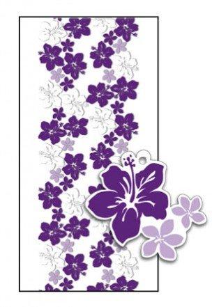 - Hawaiian Candy Lei Making Kit - 5 Purple Hibiscus Lei Kits