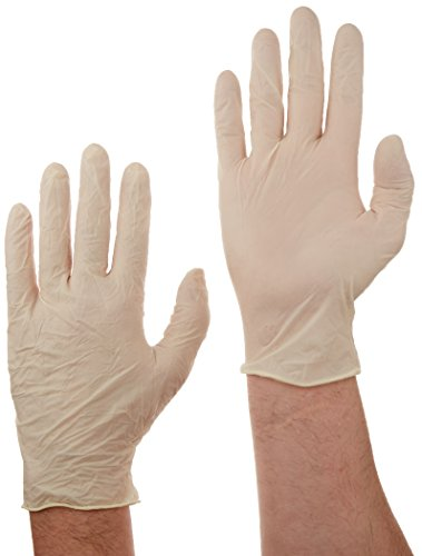 Tradex LLG5201 Ambitex Latex Powdered Free Multi-Purpose Gloves, Large, Cream (Pack of 1000) by Tradex