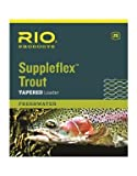 Rio Fly Fishing Supple Flex-Tapered 7.5′ 5X Fishing Leaders, Clear Review