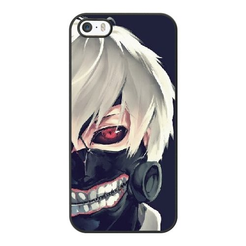 Coque,Apple Coque iphone 5/5S/SE Case Coque, Generic Tokyo Ghoul Kaneki Cover Case Cover for Coque iphone 5 5S SE Noir Hard Plastic Phone Case Cover