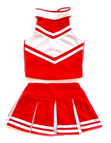 Children/Girls' Cheerleader Cheerleading Uniform Costume Red/White (Cheerleading Outfits Halloween)