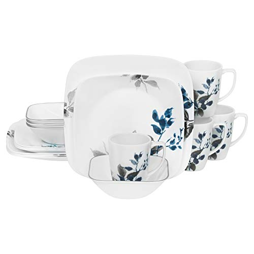 Corelle Boutique Square Kyoto Night 16-Piece Dinnerware Set, Service for 4 by Corelle (Image #8)