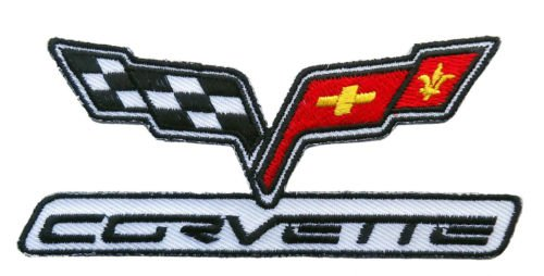 CORVETTE RACING EMBROIDERED 4 INCH IRON ON SEW ON PATCH BY MILTACUSA for Accessories - Bags/Purses, Apparel - Coat/Jacket, Apparel - Jeans/Pants, Children, Crafts