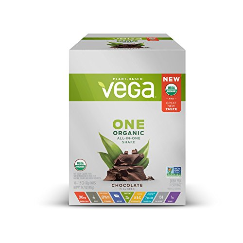 Vega One Organic Plant Protein Powder, Chocolate, 10 Count
