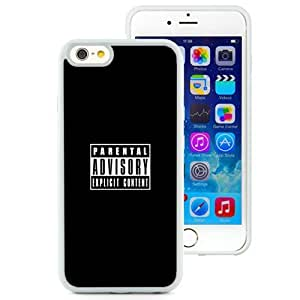 NEW Unique Custom Designed iPhone 6 4.7 Inch TPU Phone Case With Parental Advisory Explicit Content_White Phone Case