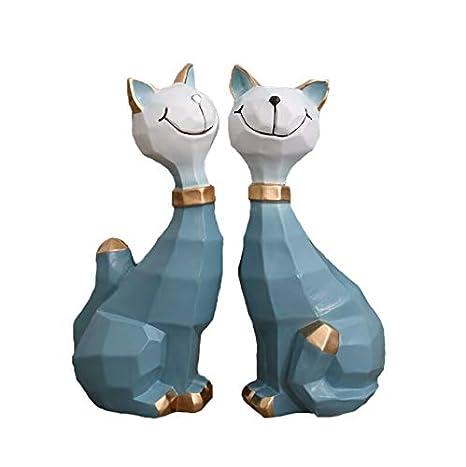 Baijdery Decoracion Escultura Accesorios Creativos para Gatos, Gabinetes De Televisión Estilo Nórdico para Gatos, Sala De Estar, Adorables Accesorios para ...