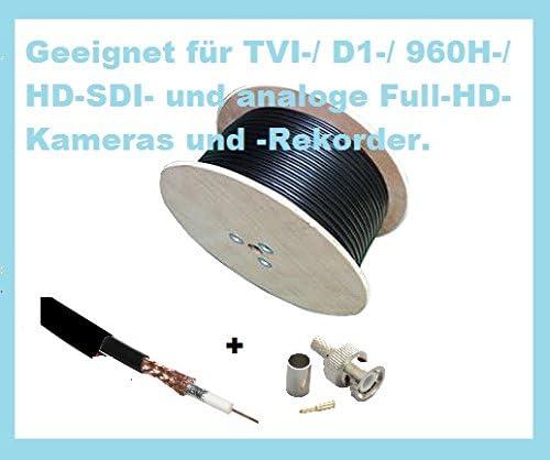 100 M RG59 Cable Coaxial Negro – para CCTV Video – Rollo de cable ...