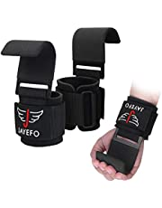 Jayefo {Weight Lifting Hooks} {Wrist Wraps & Support} {Hooks Grip} Lifting Gloves Straps Bodybuilding Deadlifts Pull Ups {Home Gym} Workout