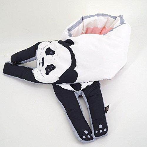 Femme Des Blanc Réchauffement En Épaissie Automne Adorable Lignées Écharpe Petite Prue Aux De Étudiants Hiver Panda Et Abben Coréen OHnCqR