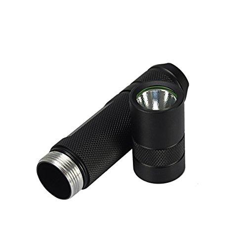 Nichia 3W 365nm UV High Power LED Flashlight 1 x 18650 (Color Titanium gray) by LEEPRA (Image #7)