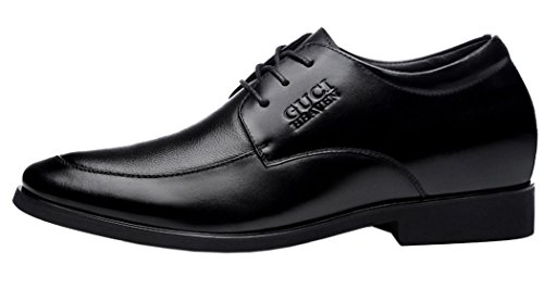 Guciheaven Mens 2015 New British Style Low Top Lace-up Casual Business Shoes(7 D(M)US, Black)