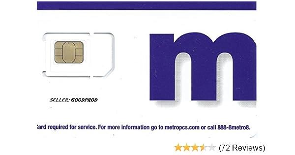 Metro PCS Try Cut SIM Card
