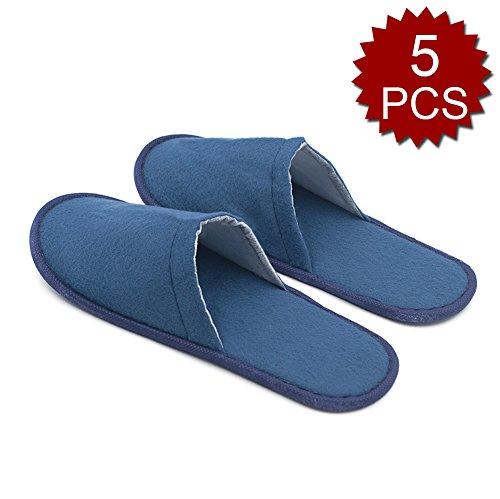 Opromo , Damen Hausschuhe 5PCS-Blue