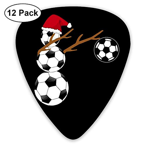 Dabbing Snowman Soccer Christmas 351 Shape Classic Picks 12 Pack For Electric Guitar Acoustic Mandolin Bass ()