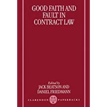 Good Faith and Fault in Contract Law