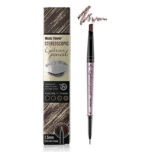 Music Flower Eyebrow pencil - Eyebrow pen - Brow Tint brush Brow Filler (Light Coffee/Light Brown)