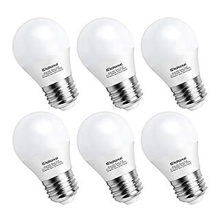 E26 LED Bulb, 6 Watt A15 G45 Daylight White 5000K with E26 Medium Base, Equivalent to 60 Watt Bulb, AC 85-265V, Non-dimmable - Pack of 6